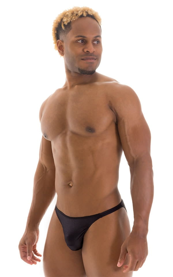 Smooth Front Bikini Bathing Suit in Wet Look Black 1