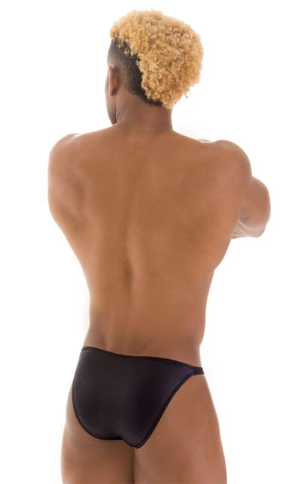Smooth Front Bikini Bathing Suit in Wet Look Black 3