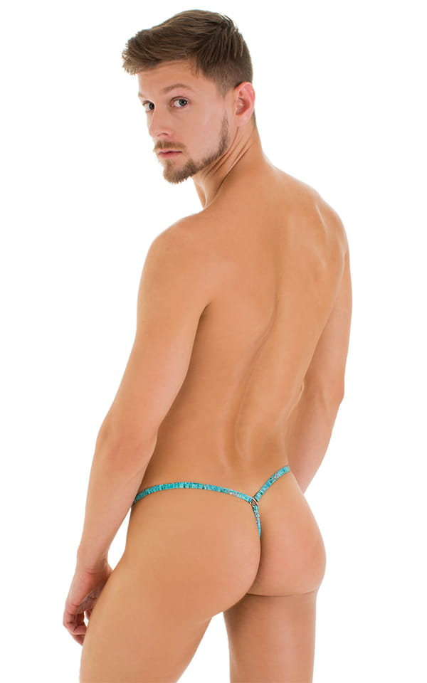 Stuffit Pouch G String Swimsuit in Super ThinSKINZ Seafoam 3