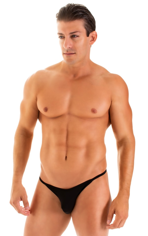 Super Low Brazilian Bikini in Super ThinSKINZ Black 1