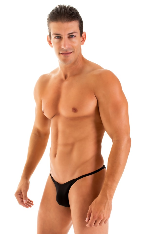 Super Low Brazilian Bikini in Super ThinSKINZ Black 5
