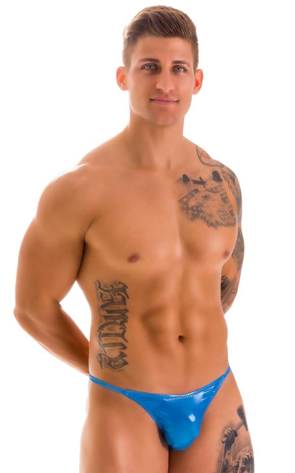 Super Low Brazilian Bikini in Ice Karma Electric Blue 1