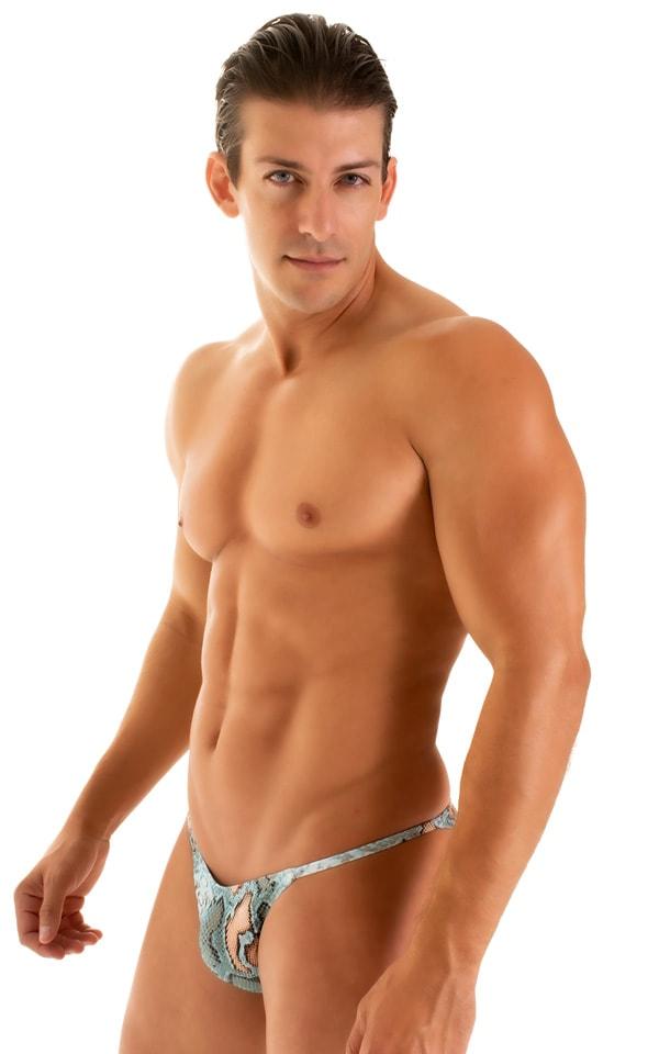 Super Low Brazilian Bikini in Super ThinSKINZ Aqua Snakeskin 5