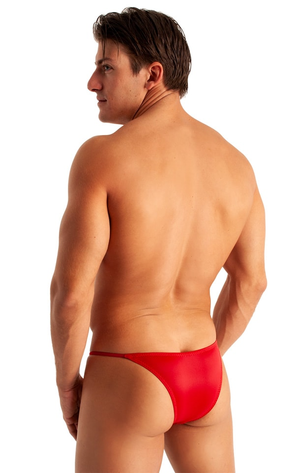 Super Low Brazilian Bikini in Semi Sheer ThinSkinz Red 3