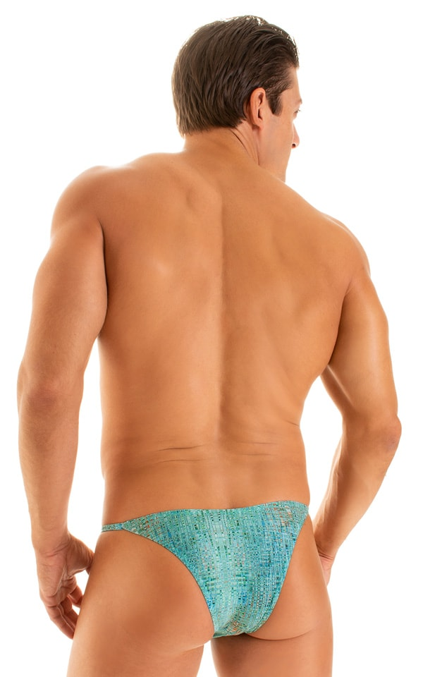 Super Low Brazilian Bikini in Super ThinSKINZ Seafoam Circuits 3