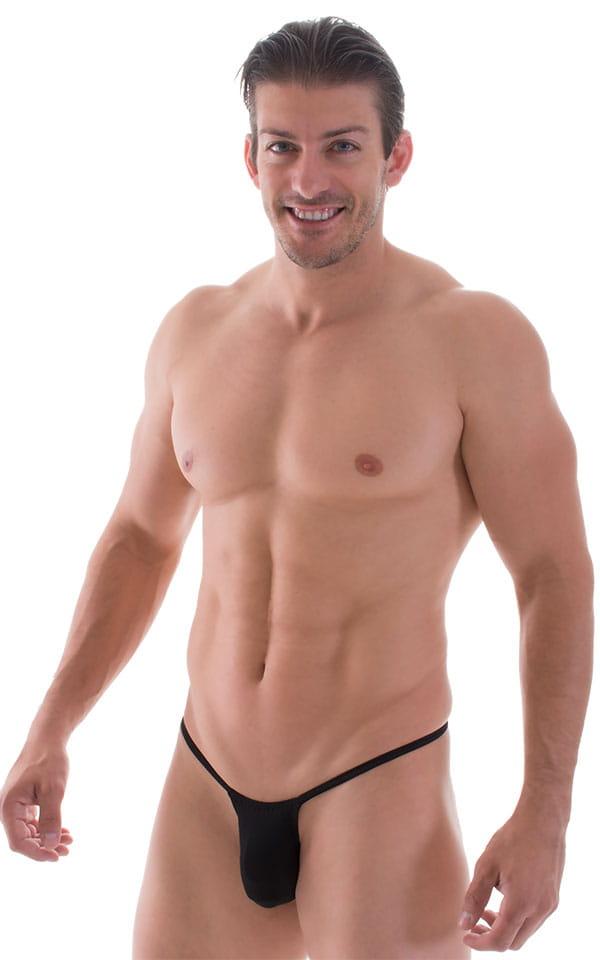 Roman G String Swim Thong in Super ThinSKINZ Black 1