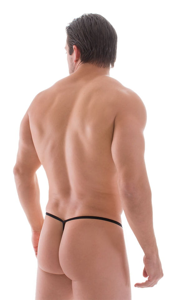 Roman G String Swim Thong in Super ThinSKINZ Black 3