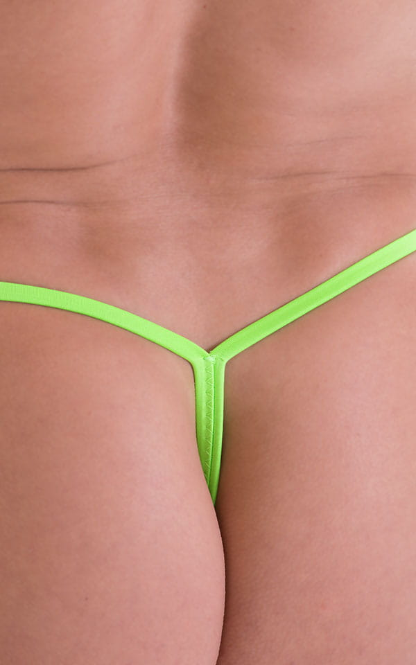 Roman G String Swim Thong in ThinSKINZ Neon Lime 5
