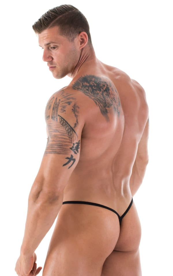 mens micro teardrop g string swimsuit black back