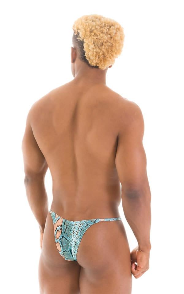 Sunseeker2 Tanning Swimsuit in Super ThinSKINZ Aqua Snakeskin 3