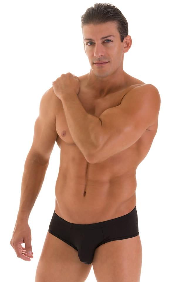 Pouch Brief Swimsuit in Super ThinSKINZ Black 1