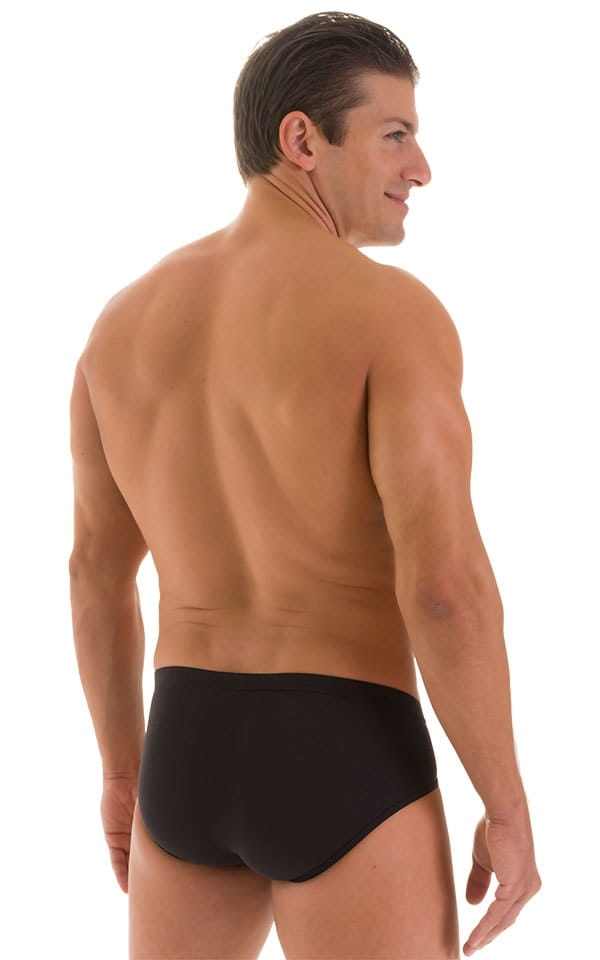 Pouch Brief Swimsuit in Super ThinSKINZ Black 3