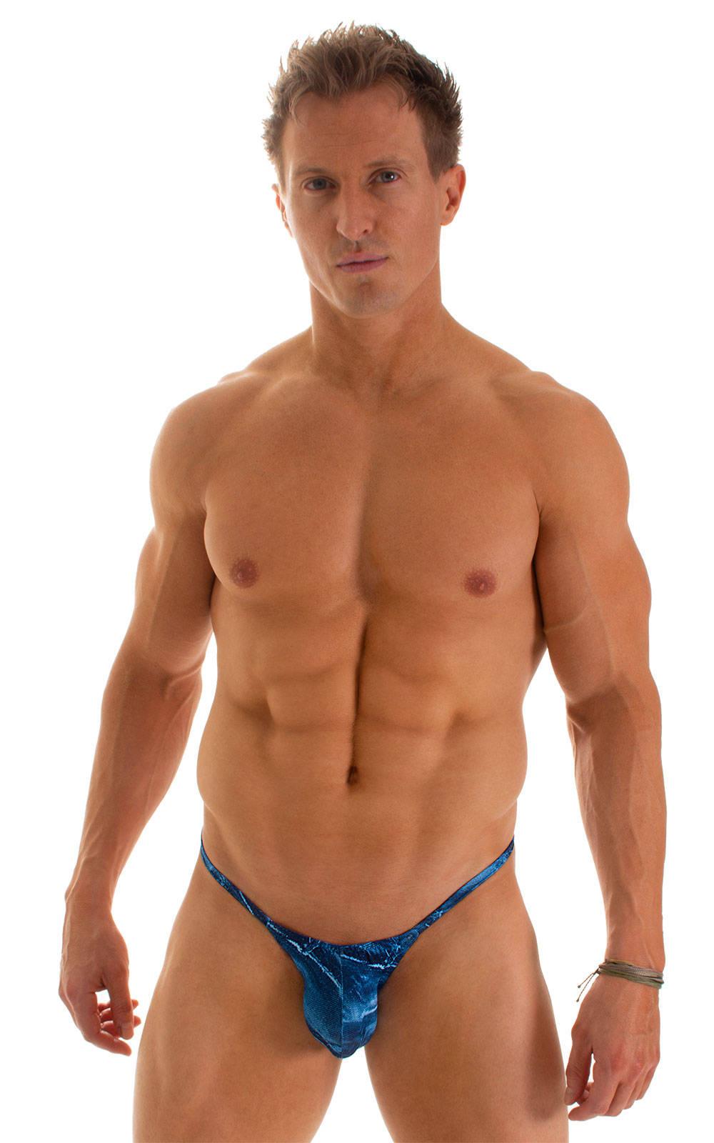 Micro Pouch - Puckered Back - Rio Bikini in Super ThinSkinz Denim Patches 1