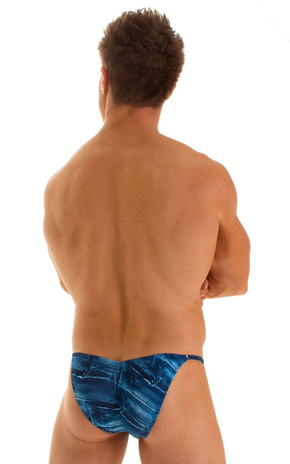 Micro Pouch - Puckered Back - Rio Bikini in Super ThinSkinz Denim Patches 2