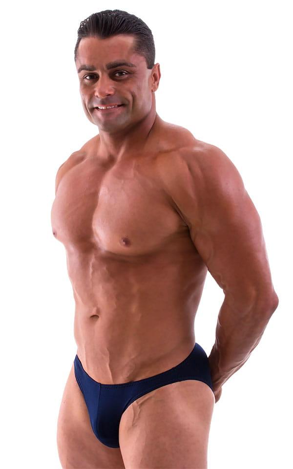 Bikini-Brief Swimsuit in Semi Sheer ThinSKINZ Navy Blue 4