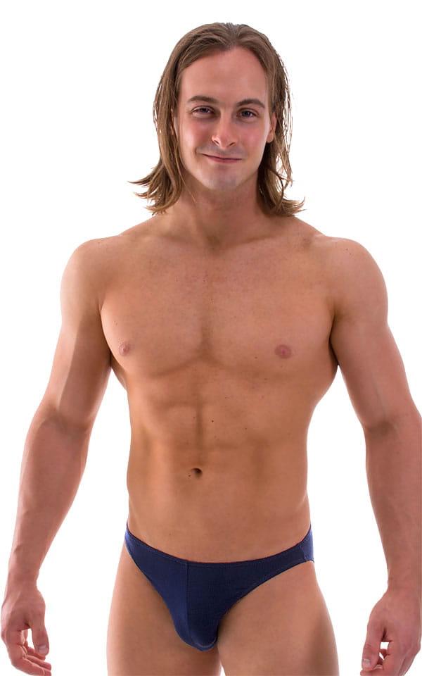 Bikini-Brief Swimsuit in Semi Sheer ThinSKINZ Navy Blue 1