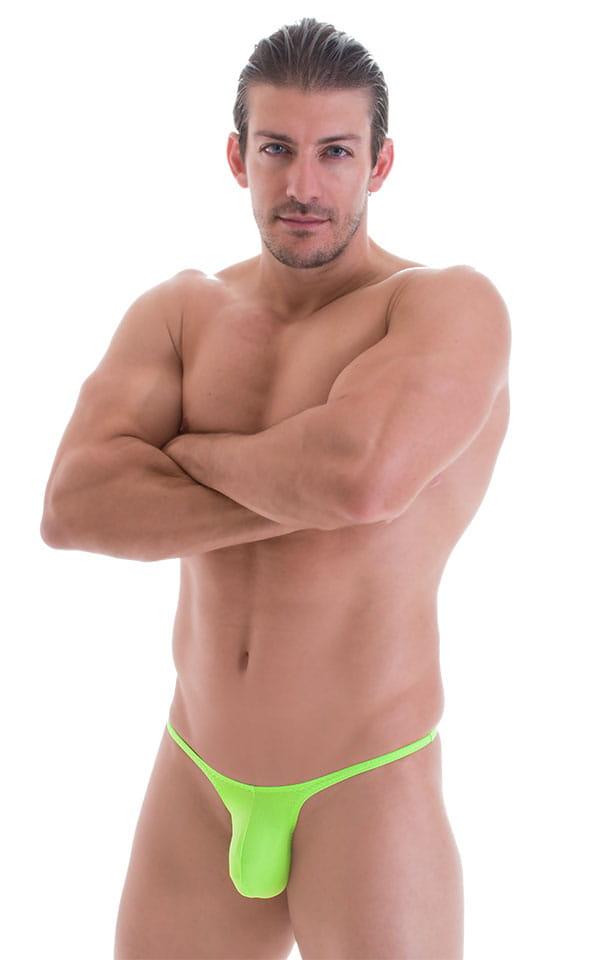Sunseeker Micro Pouch Half Back Bikini in ThinSKINZ Neon Lime 1