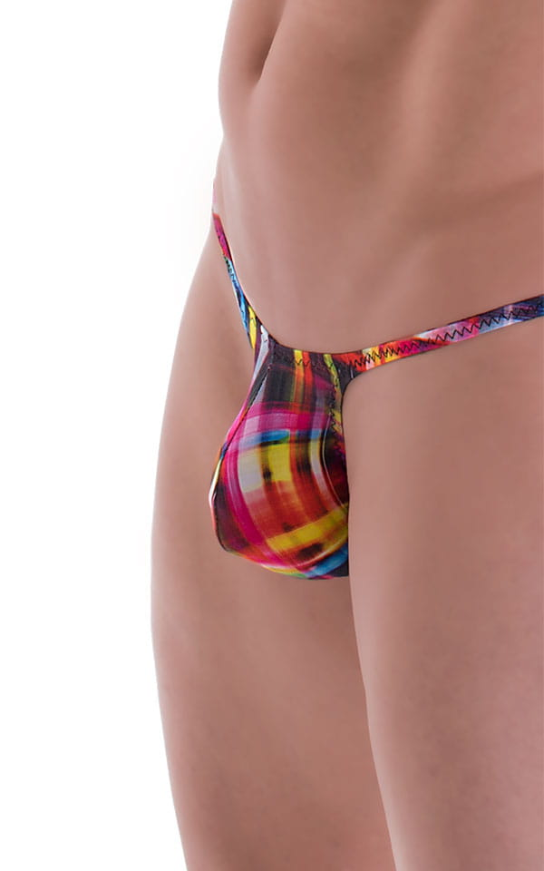 Sunseeker Micro Pouch Half Back Bikini in ThinSKINZ Optic Plaid 4