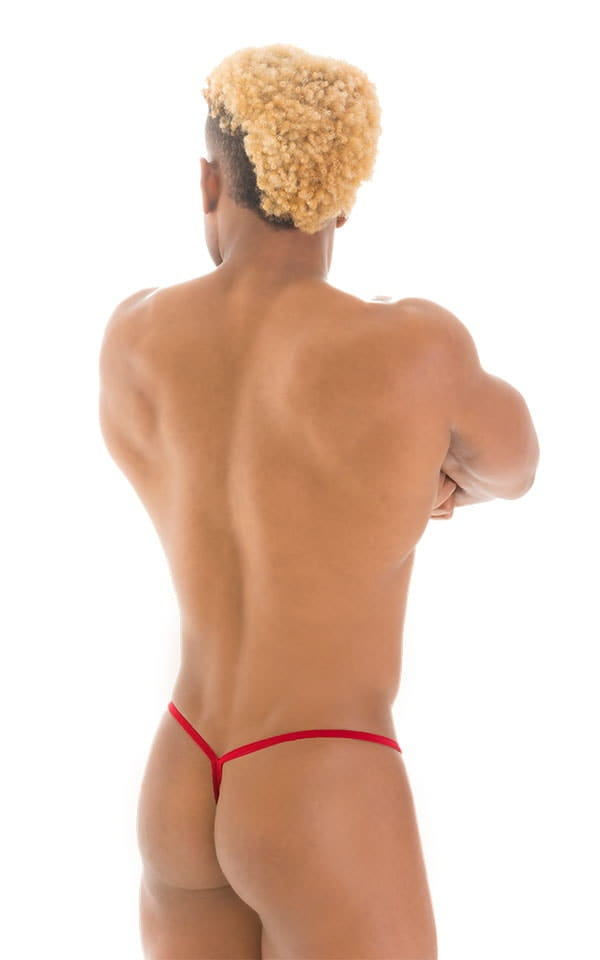 Y Back G String Thong in ThinSKINZ Red 2