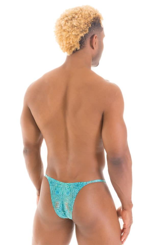 Sunseeker2 Tanning Swimsuit in Super ThinSKINZ Seafoam Circuits 3