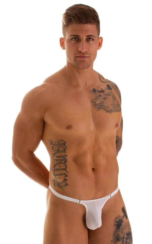 Quick Release Thong - Bravura Pouch in Super ThinSKINZ White 1
