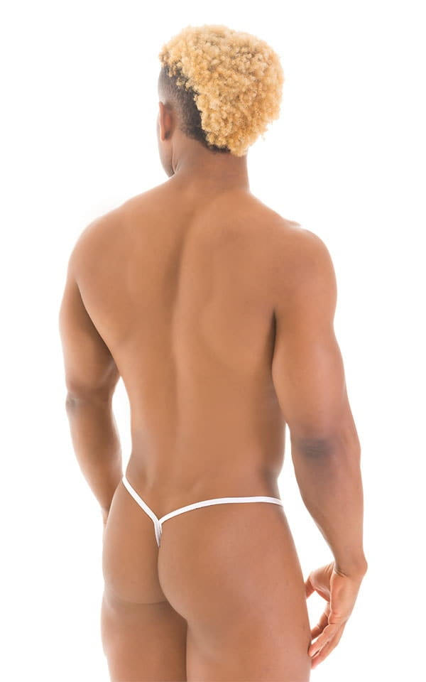 Y Back G String Thong in Super ThinSKINZ White 2