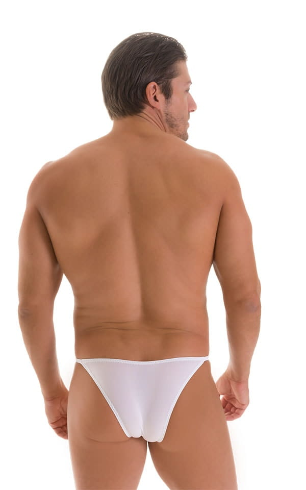 Stuffit Pouch Half Back Tanning Swimsuit in Super ThinSKINZ White 2