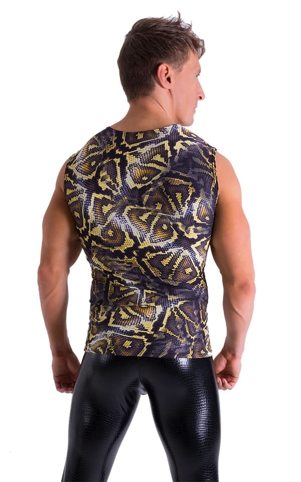 Sleeveless Lycra Muscle Tee in Super ThinSKINZ Giant Python 3