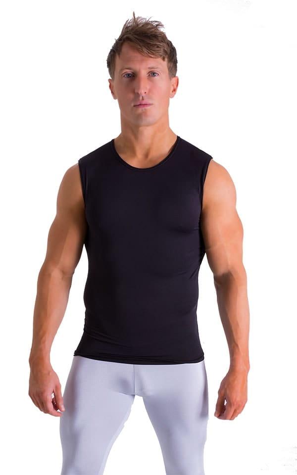 Sleeveless Lycra Muscle Tee in Super ThinSKINZ Black 1