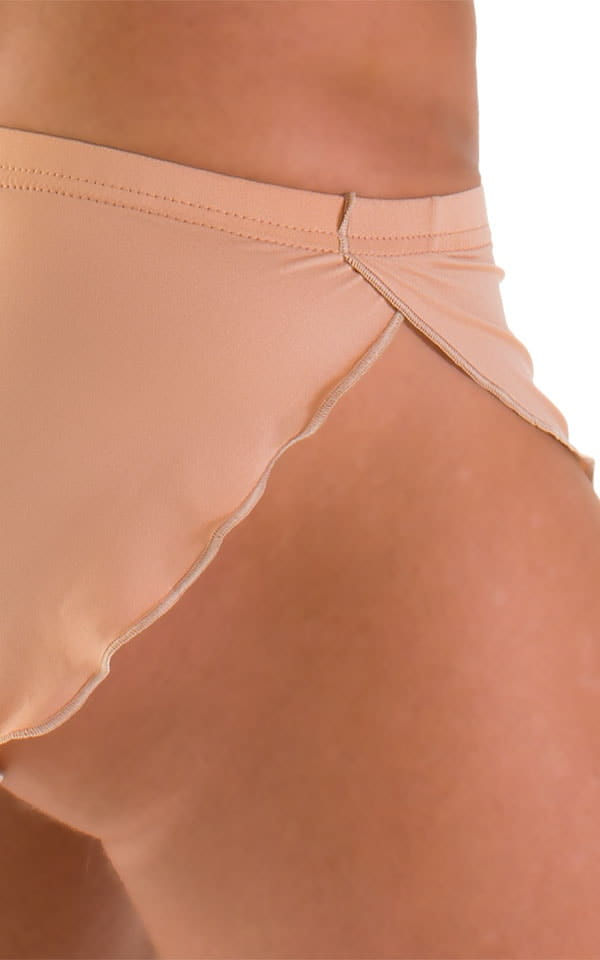 Swimsuit Cover Up Split Running Shorts in Super ThinSKINZ Nude 3