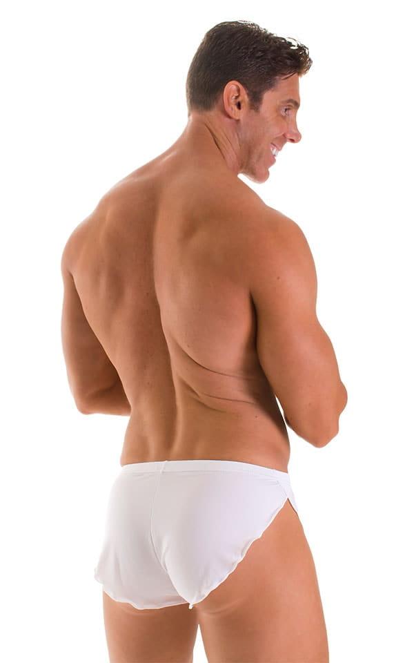 Swimsuit Cover Up Split Running Shorts in Super ThinSKINZ White 2