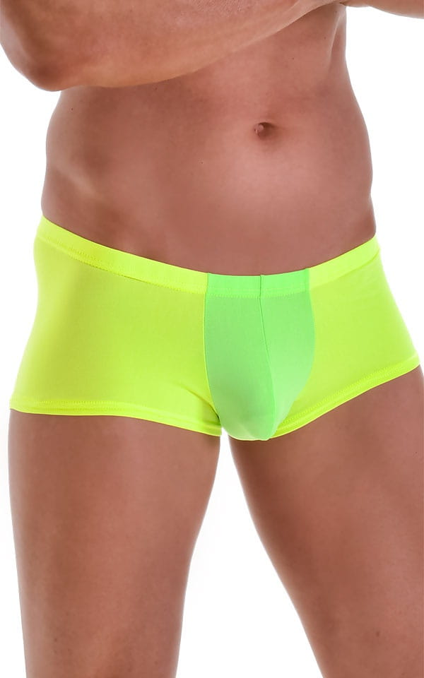 Fitted Pouch - Boxer - Swim Trunks in Neon Lime Yellow 4