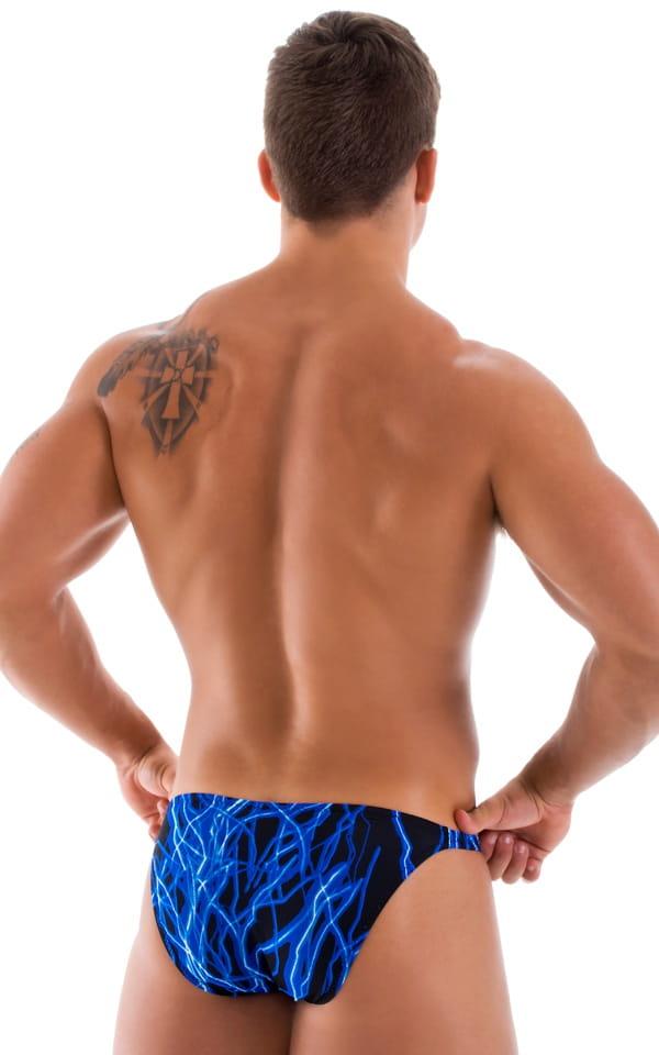 Stuffit Pouch Bikini Swimsuit in Laser Blue Lightning 3