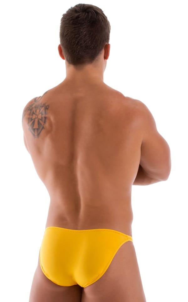 Stuffit Pouch Bikini Swimsuit in Semi Sheer Sunset Yellow 3
