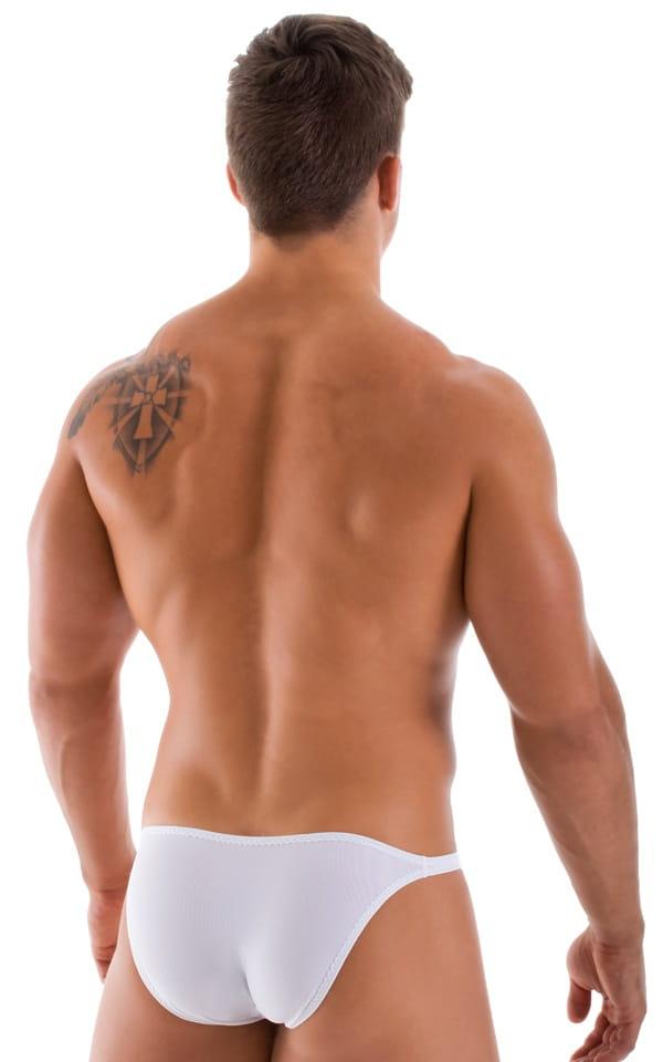 Stuffit Pouch Bikini Swimsuit in White Powernet 3