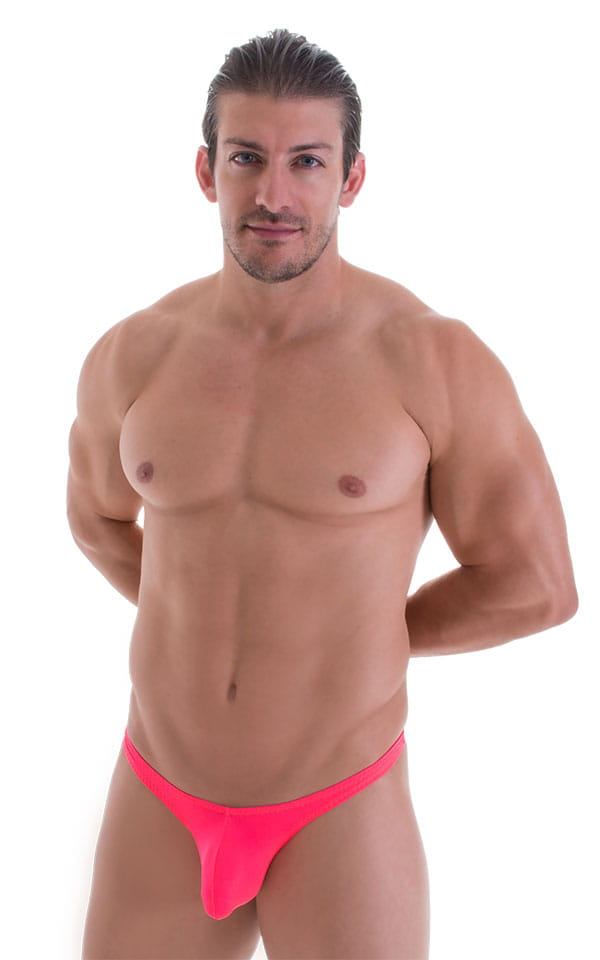 Stuffit Pouch Thong in ThinSKINZ Neon Coral 1