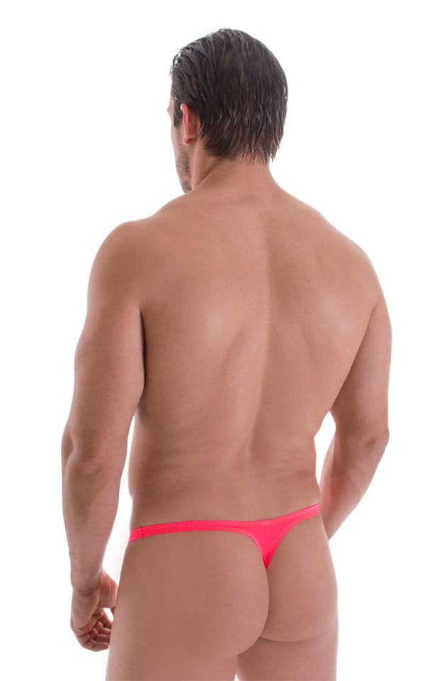 Stuffit Pouch Thong in ThinSKINZ Neon Coral 3