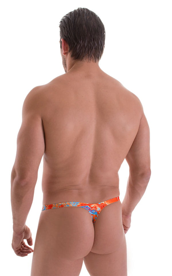 Stuffit Pouch Thong in Vapor Wave Orange 3