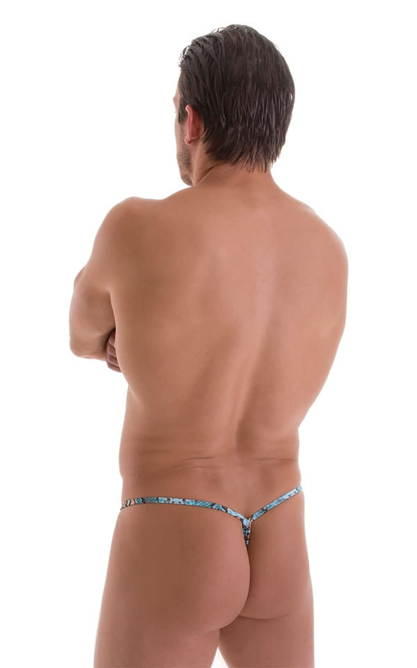 Roman G String Swim Thong in ThinSKINZ Aqua Python 3
