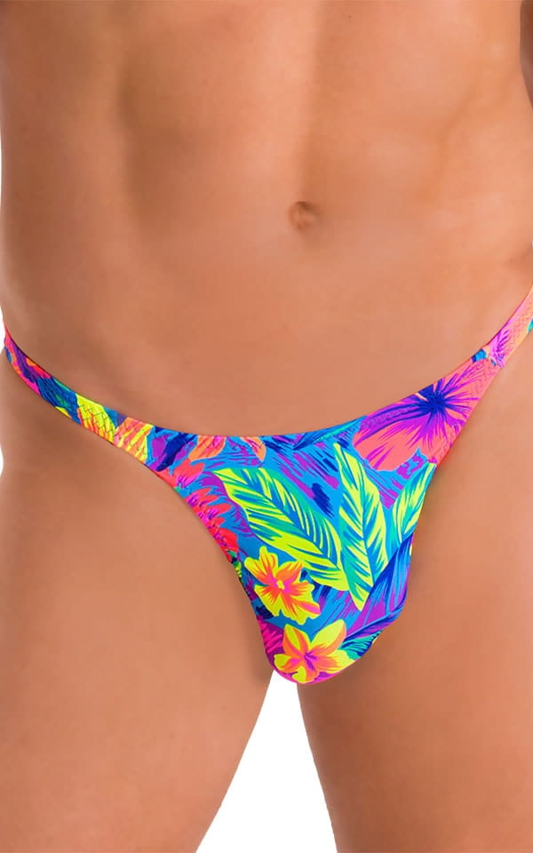 Smooth Front Bikini Bathing Suit in Hawaiian Floral 4