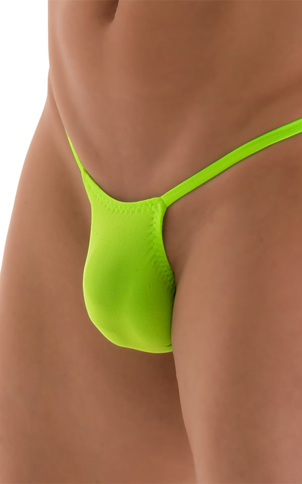 Roman G String Swim Thong in ThinSKINZ Neon Lime 5