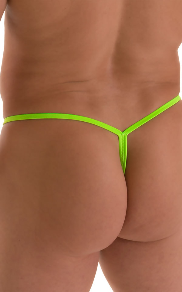 Roman G String Swim Thong in Semi Sheer ThinSkinz Neon Lime 6