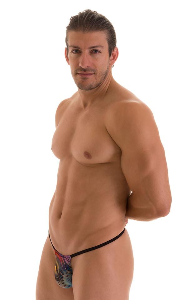 Roman G String Swim Thong in Semi Sheer Aquarious Mesh 4