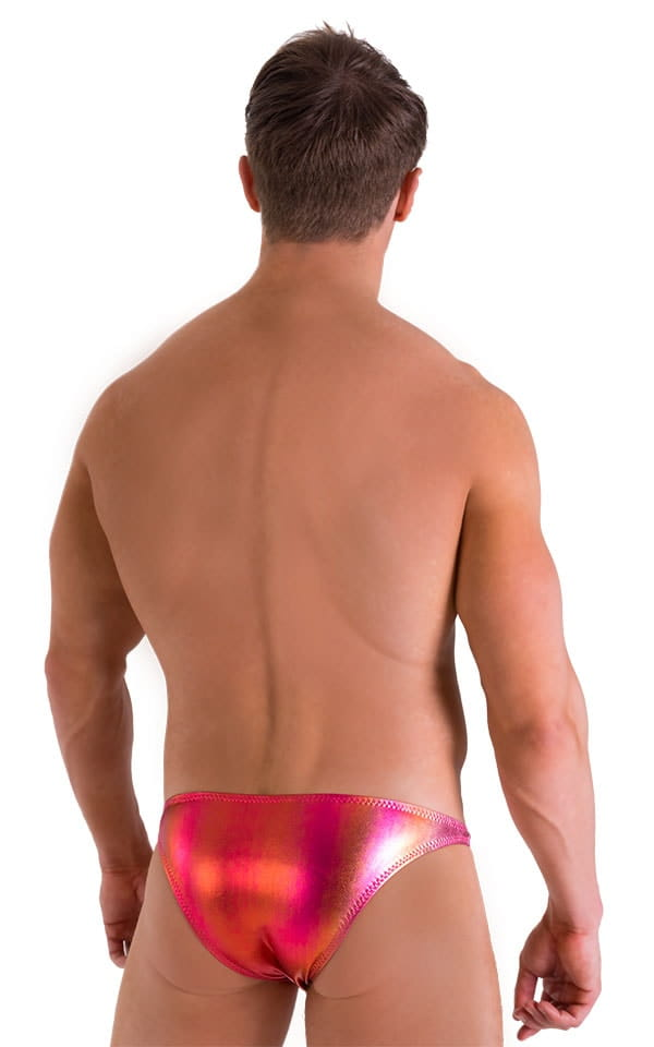 Enhancing Pouch Swim Brief in Metallic Sunset Ombre 3