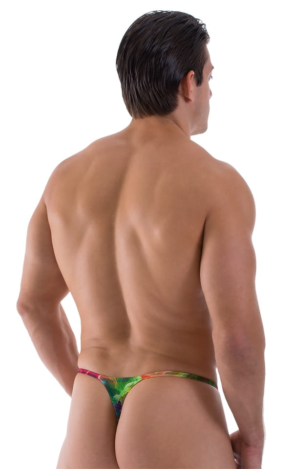Smooth Pouch Skinny Sides Swim Thong in Vapors 3