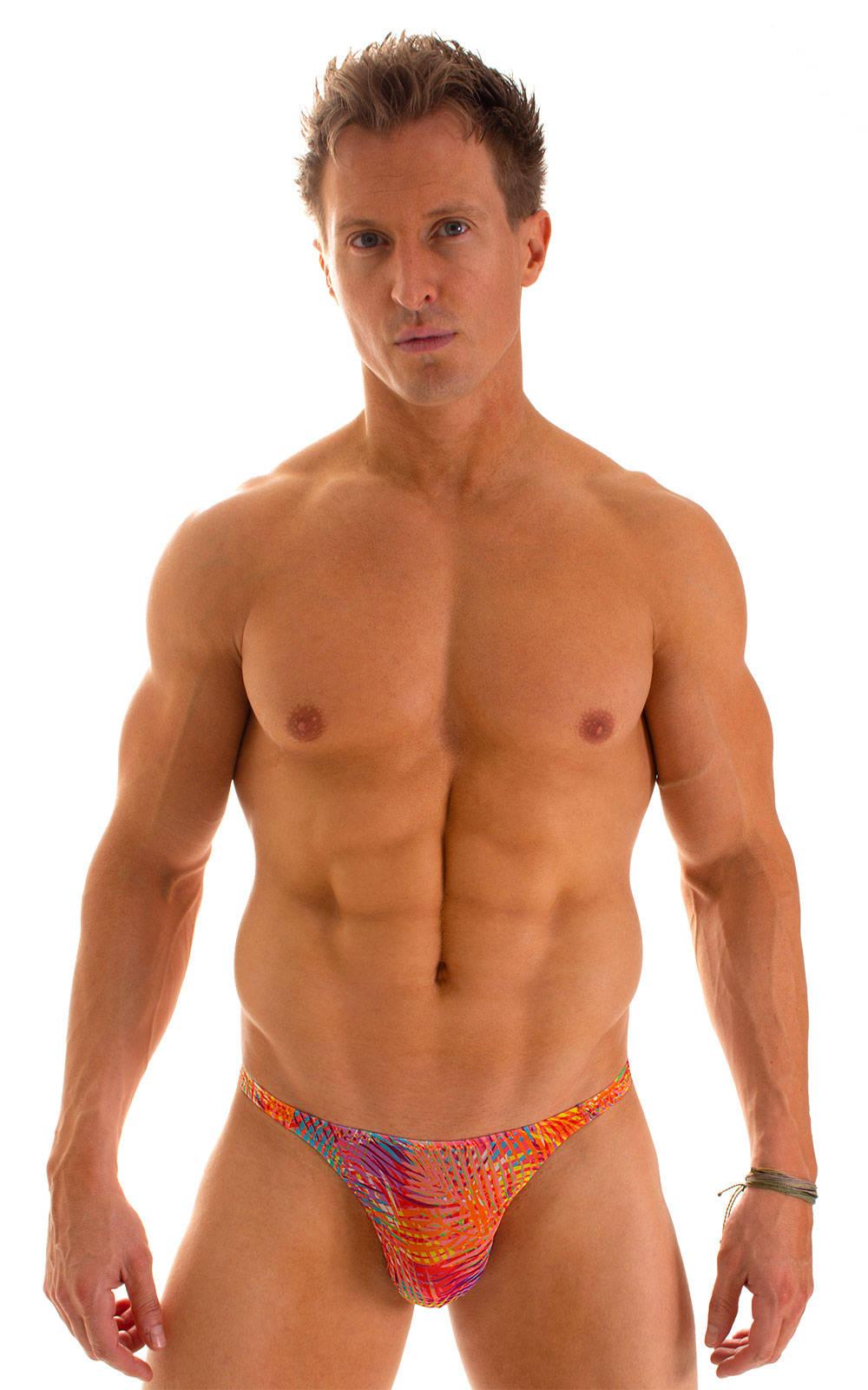 Smooth Front Bikini in Tan Through Orange Jungle 1
