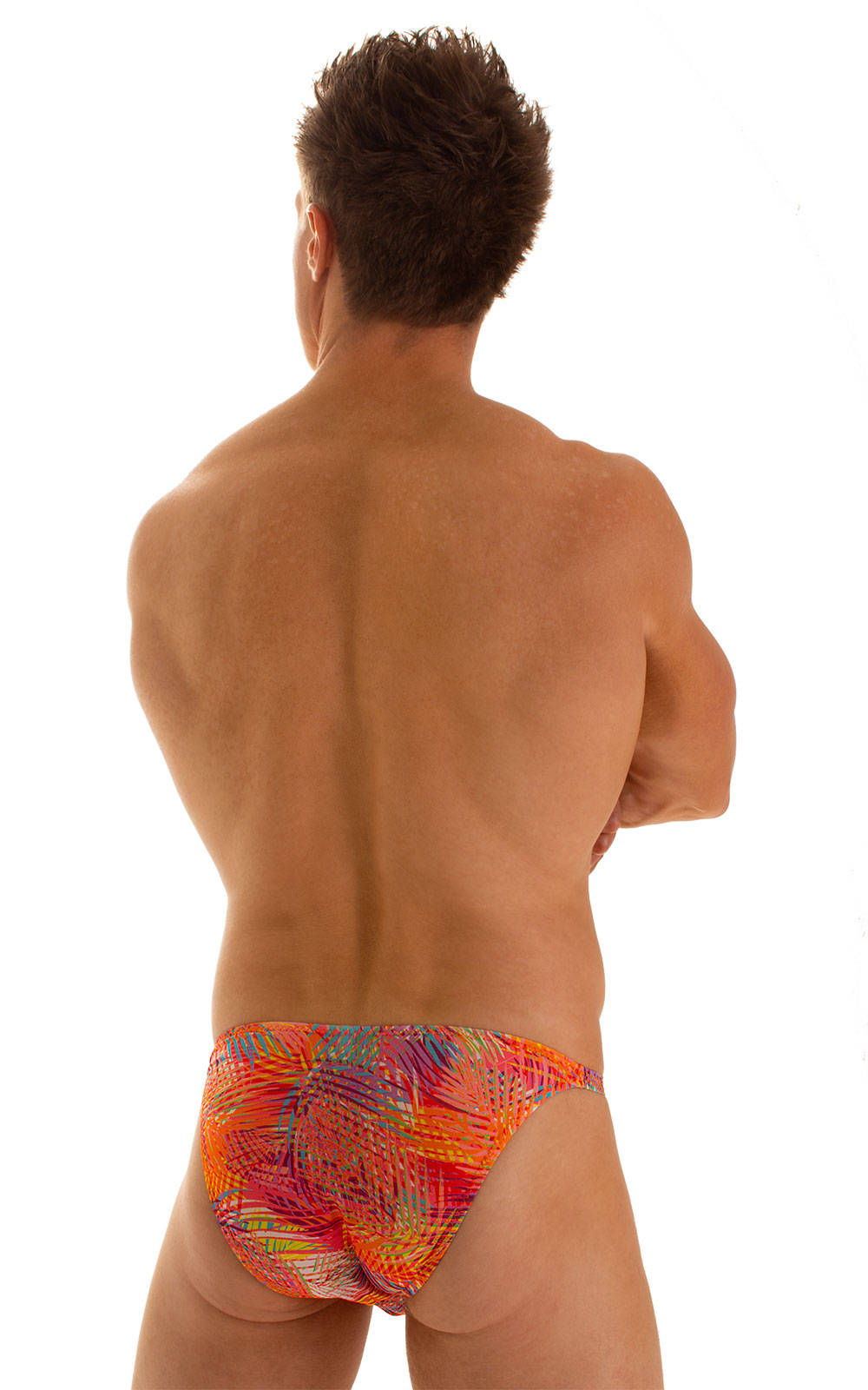 Smooth Front Bikini in Tan Through Orange Jungle 2