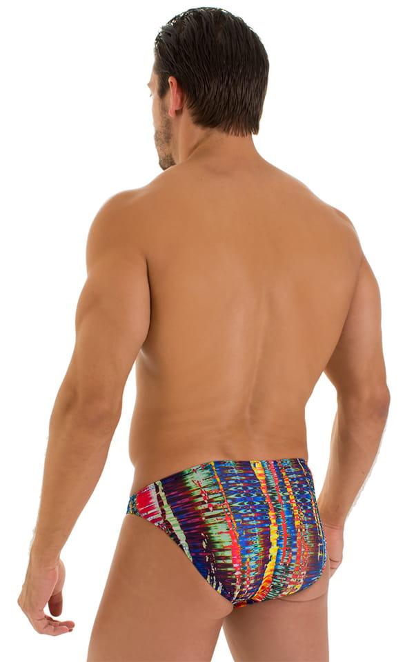 Bikini Brief Swimsuit in Tan Through Frequency 3