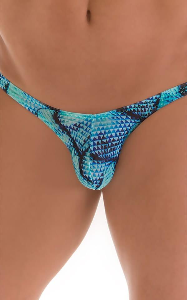 Stuffit Pouch Bikini Swimsuit in Tan Through Parrotfish 3