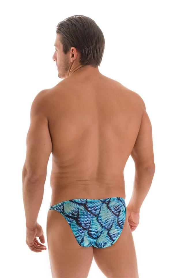 Stuffit Pouch Bikini Swimsuit in Tan Through Parrotfish 2